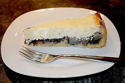 Topfen (Quark) - Mohn - Kuchen mit Birnen 5