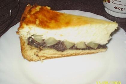 Topfen (Quark) - Mohn - Kuchen mit Birnen 12