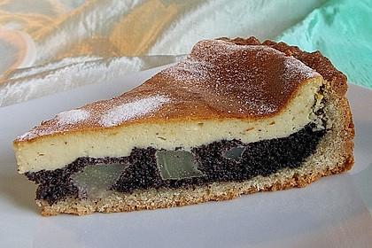 Topfen (Quark) - Mohn - Kuchen mit Birnen 1