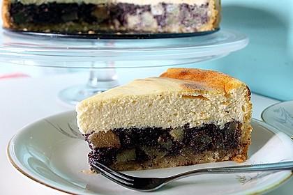 Topfen (Quark) - Mohn - Kuchen mit Birnen