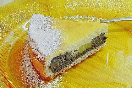 Topfen (Quark) - Mohn - Kuchen mit Birnen 6