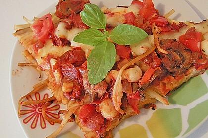 Bunte Spaghetti - Pizza 2
