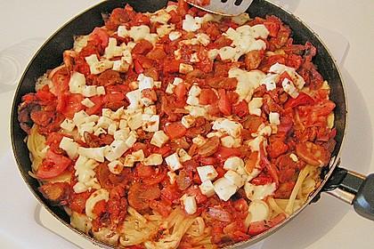 Bunte Spaghetti - Pizza 1