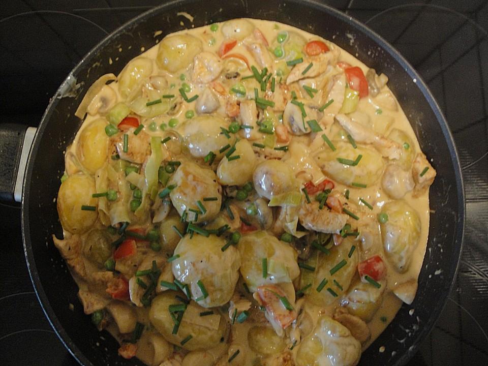 kartoffel gemüse schnitzel pfanne rezept mit bild