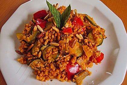 Bulgur - Gemüse - Pfanne 6
