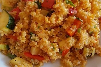 Bulgur - Gemüse - Pfanne 4