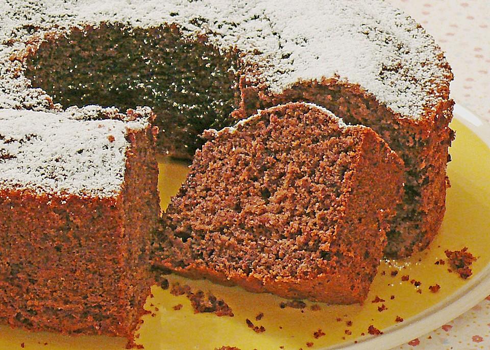 Rotwein kuchen in kranzform
