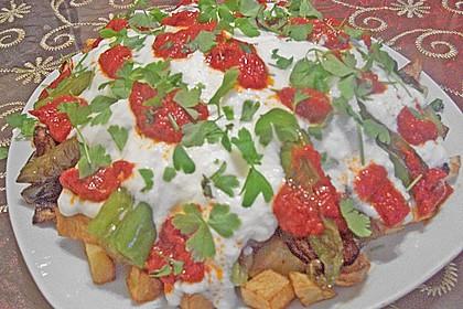 Mediterranes gebackenes Gemüse mit Joghurt - Tomatensauce 17