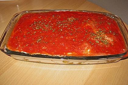 Mediterranes gebackenes Gemüse mit Joghurt - Tomatensauce 26