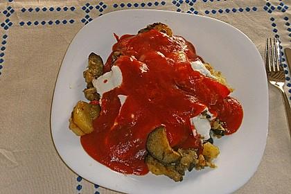 Mediterranes gebackenes Gemüse mit Joghurt - Tomatensauce 28