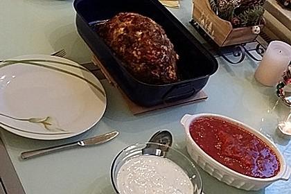 Mediterranes gebackenes Gemüse mit Joghurt - Tomatensauce 34