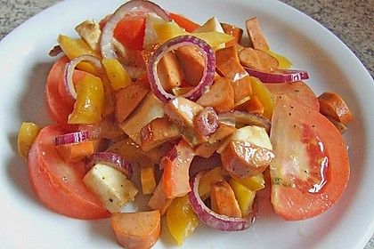 Bunter Tomaten - Paprika Salat