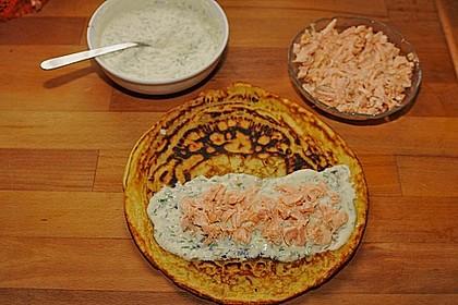 Lachs - Pfannkuchen 11