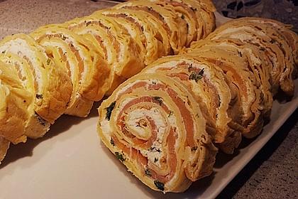 Lachs - Pfannkuchen 4