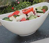 Tomaten - Gurken - Salat mit Schafskäse