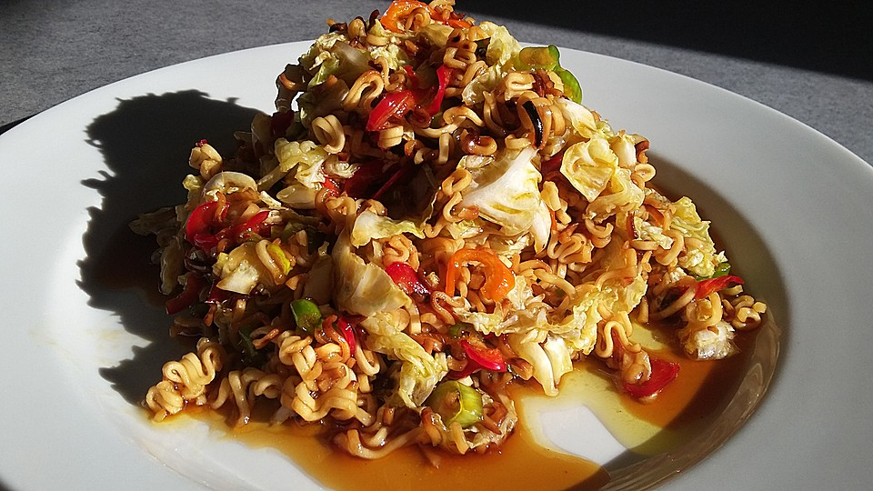 chinakohl salat asiatisch rezept mit bild von kkleipzig. Black Bedroom Furniture Sets. Home Design Ideas
