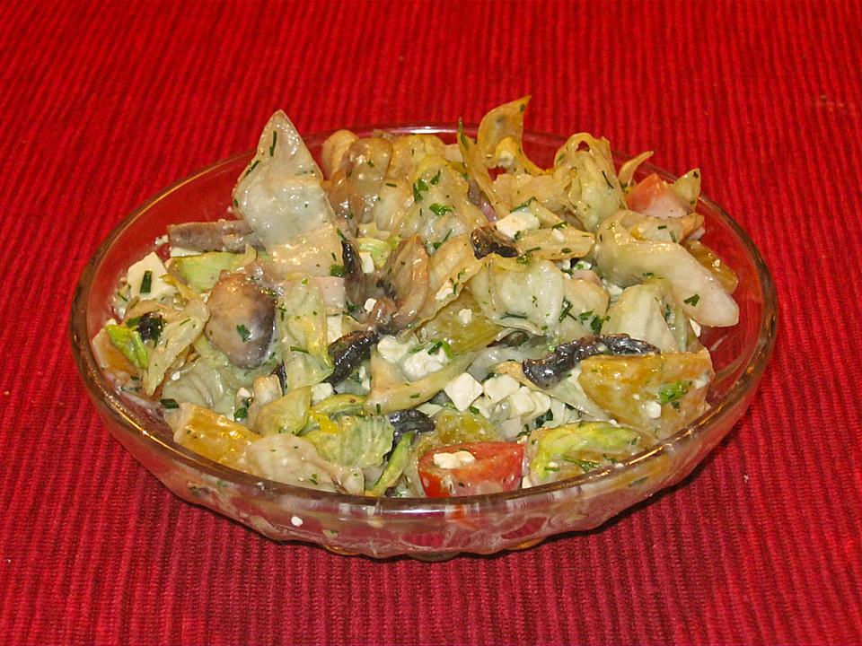 fitness salat mit champignons von kathl. Black Bedroom Furniture Sets. Home Design Ideas