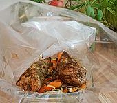 Kräuter - Lendchen im Bratschlauch mit Ofenkartoffeln