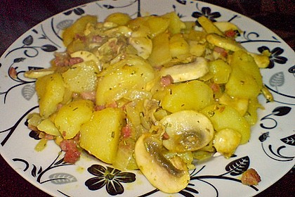 Champignon - Kartoffel - Pfanne 4