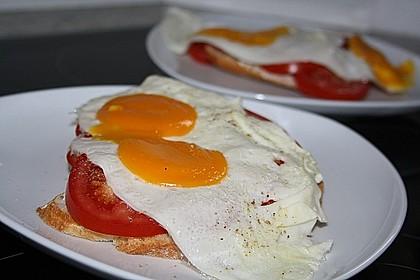 Tomatenbrot mit Spiegelei 0