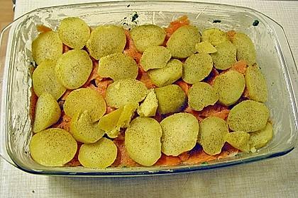 Spinat - Lachs - Auflauf 2