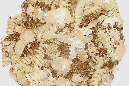 Pasta mit Spinat Käsesosse 2