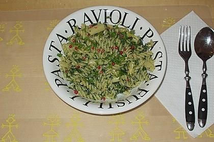 Pasta mit Spinat Käsesosse 1