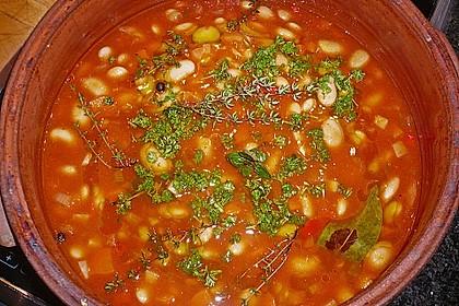 Riesenbohnen in pikanter Tomatensauce 4