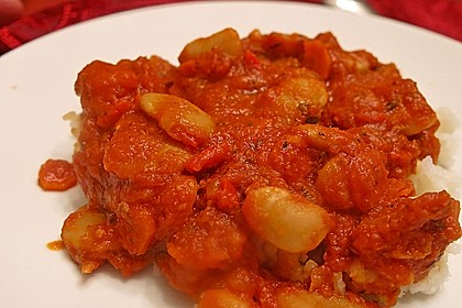 Riesenbohnen in pikanter Tomatensauce 9