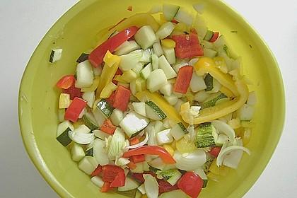 Zucchini, eingelegt mit Paprika und Knoblauch 6