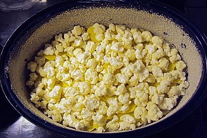 Blumenkohl mit Kartoffeln, überbacken 4