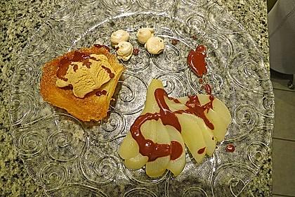Zimtparfait mit Lebkuchensauce und Birnenfächer 2