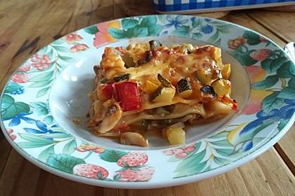 Zucchini - Lasagne ohne Fleisch 8