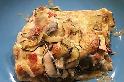 Zucchini - Lasagne ohne Fleisch 6