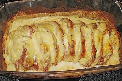 Kasseler mit Ananas in Käse - Soße