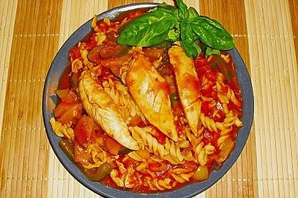 Ancos Puten - Nudelpfanne mit Paprika und Zucchini 1