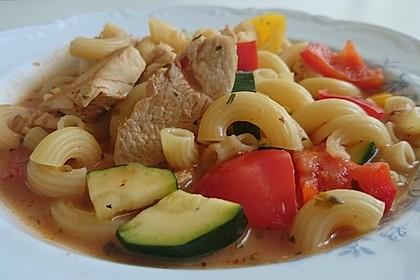 Ancos Puten - Nudelpfanne mit Paprika und Zucchini 2
