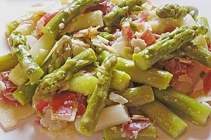 Salat von grünem Spargel 1