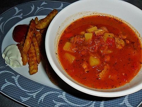 rezept backofen ungarische gulaschsuppe scharf