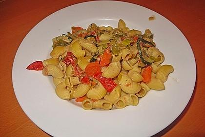 Bunte Gemüse - Nudel - Pfanne 5