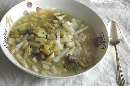 Spargel-Suppentopf mit Mettwurst 3