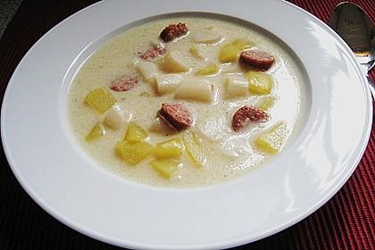 Spargel-Suppentopf mit Mettwurst 6