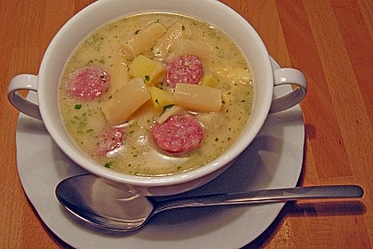 Spargel-Suppentopf mit Mettwurst 5