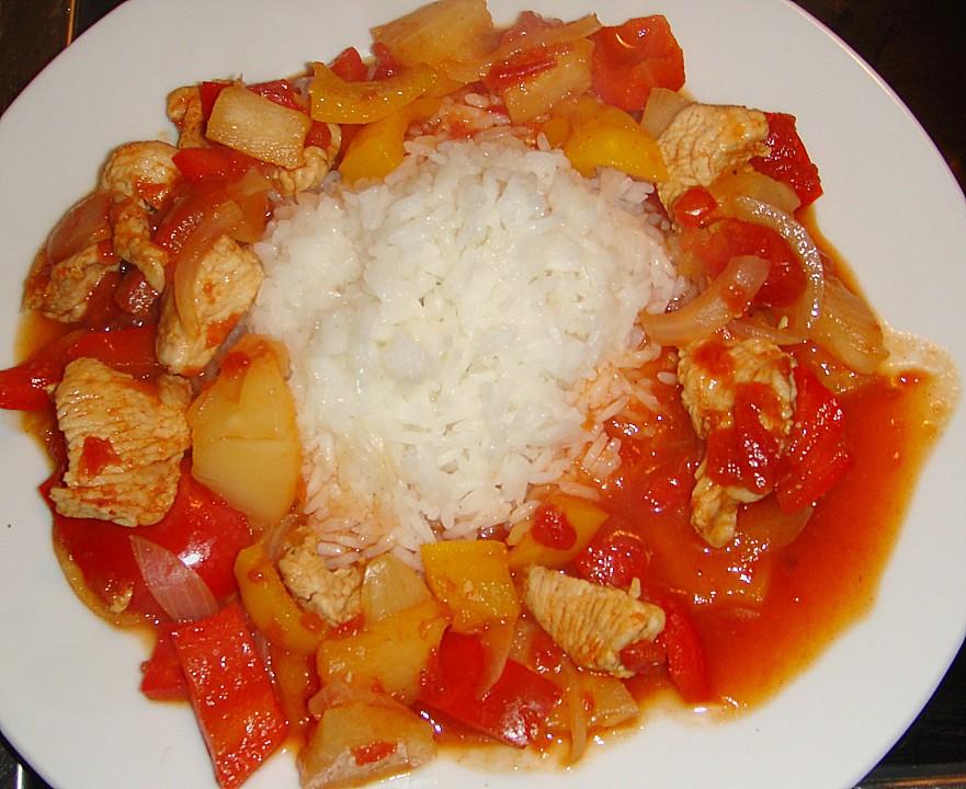Sommerküche Hähnchen : Super leichtes hähnchen süß sauer von ssunny chefkoch