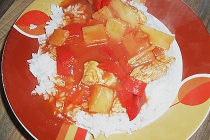 Super leichtes Hähnchen süß - sauer 24