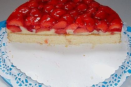 Erdbeerkuchen mit Vanillepudding 21