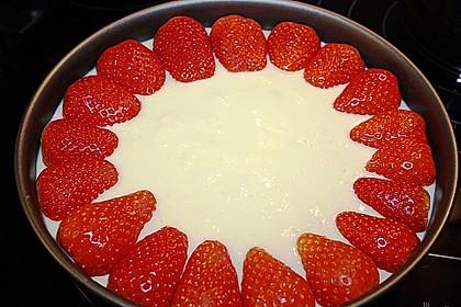 Erdbeerkuchen mit Vanillepudding 25