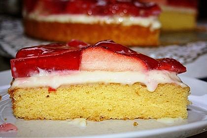 Erdbeerkuchen mit Vanillepudding 10