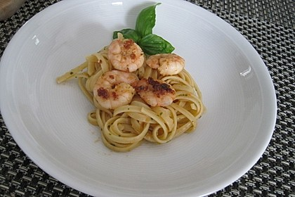 Pasta mit Knoblauch - Tomaten - Shrimps 4