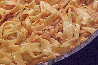 Pasta mit Knoblauch - Tomaten - Shrimps 7